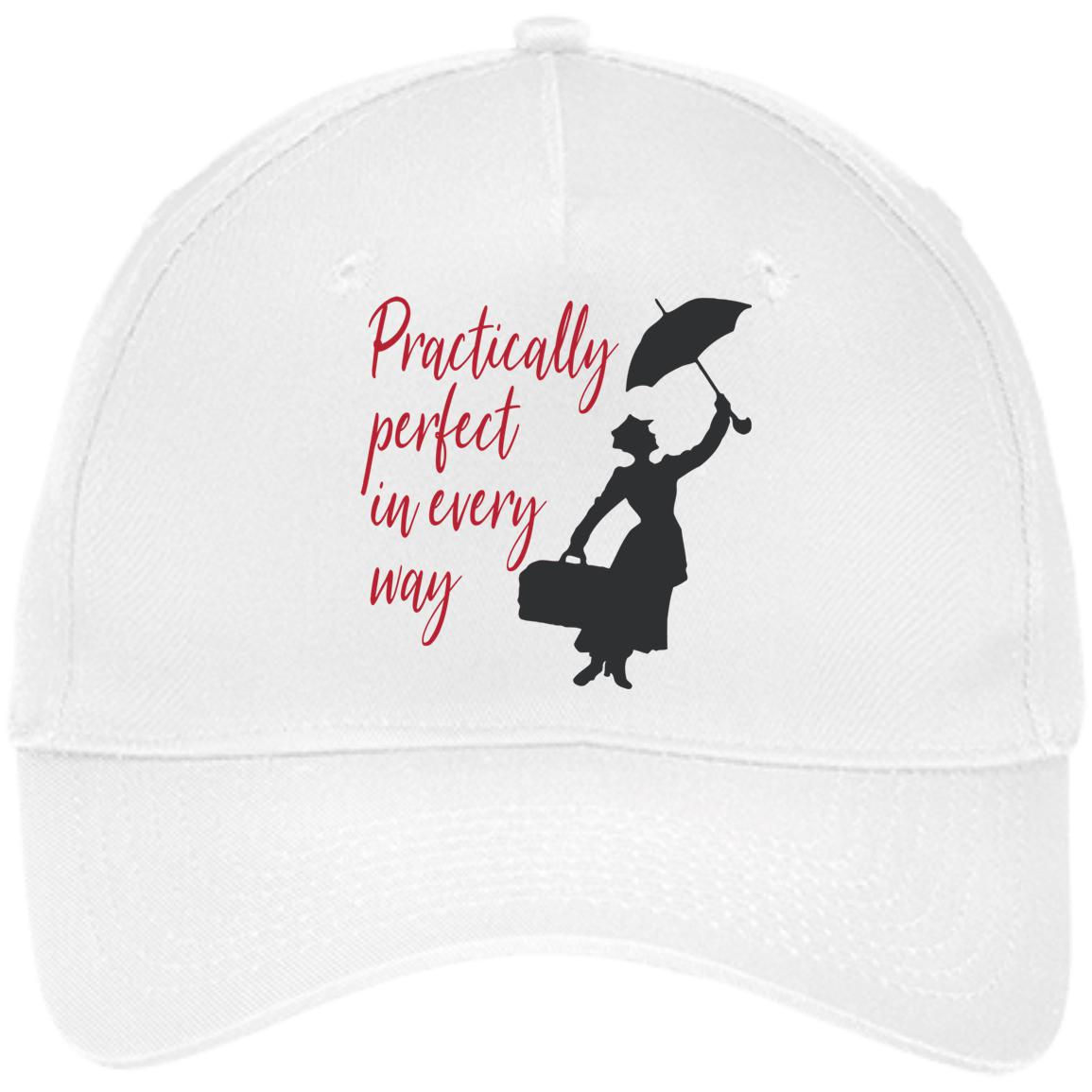 Mary Poppins Practically Perfect - Embroidered Twill Cap