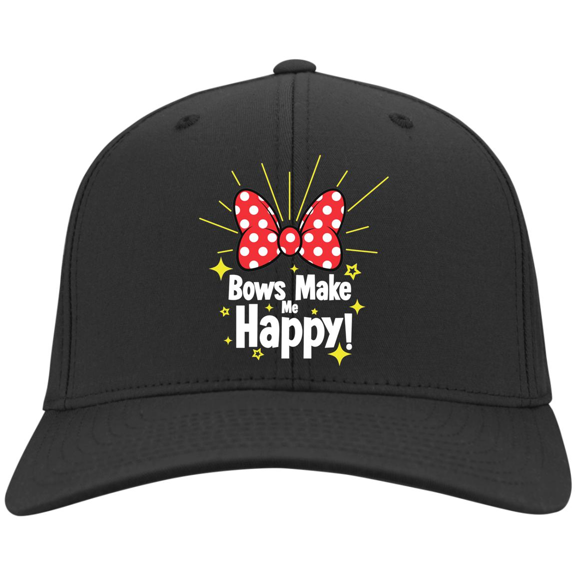 Bows Make Me Happy - Sport-Tek Dry Zone Nylon Cap
