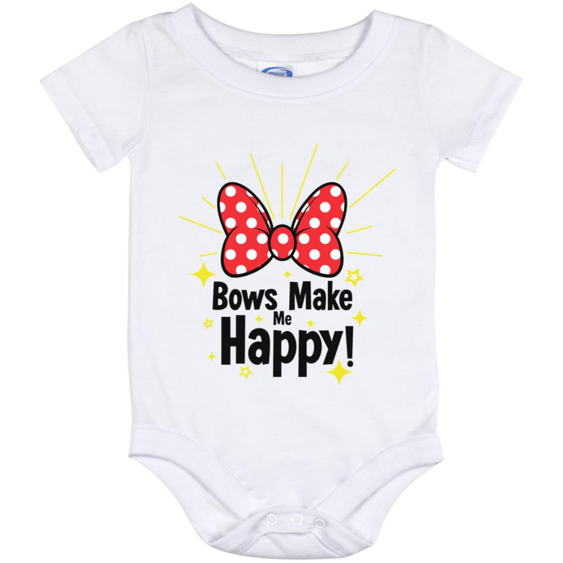 Bows Make Me Happy - Baby Onesie 12 Month
