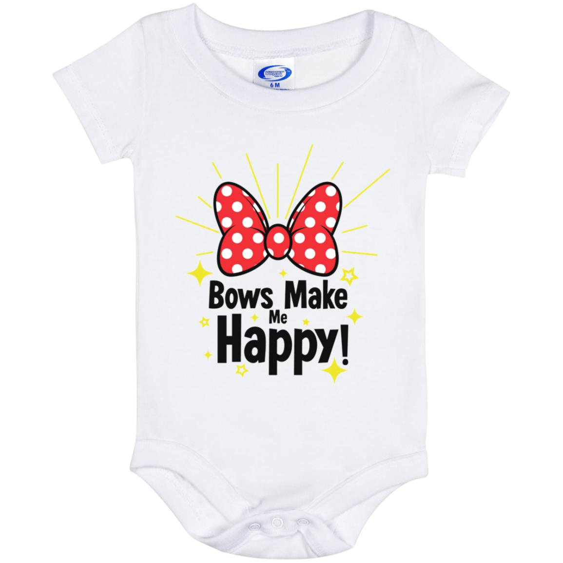 Bows Make Me Happy - Baby Onesie 6 Month
