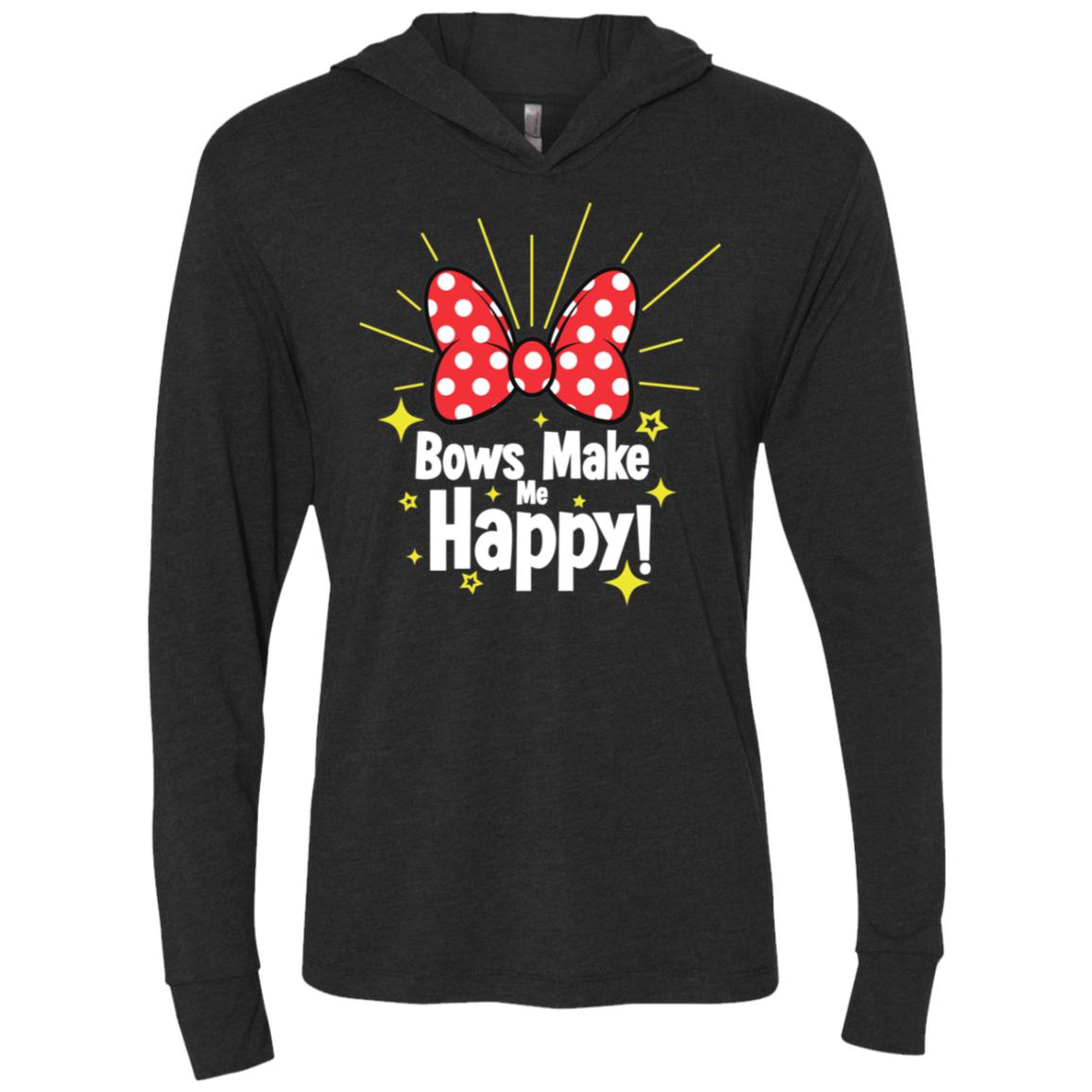 Bows Make Me Happy - Next Level Unisex Triblend LS Hooded T-Shirt