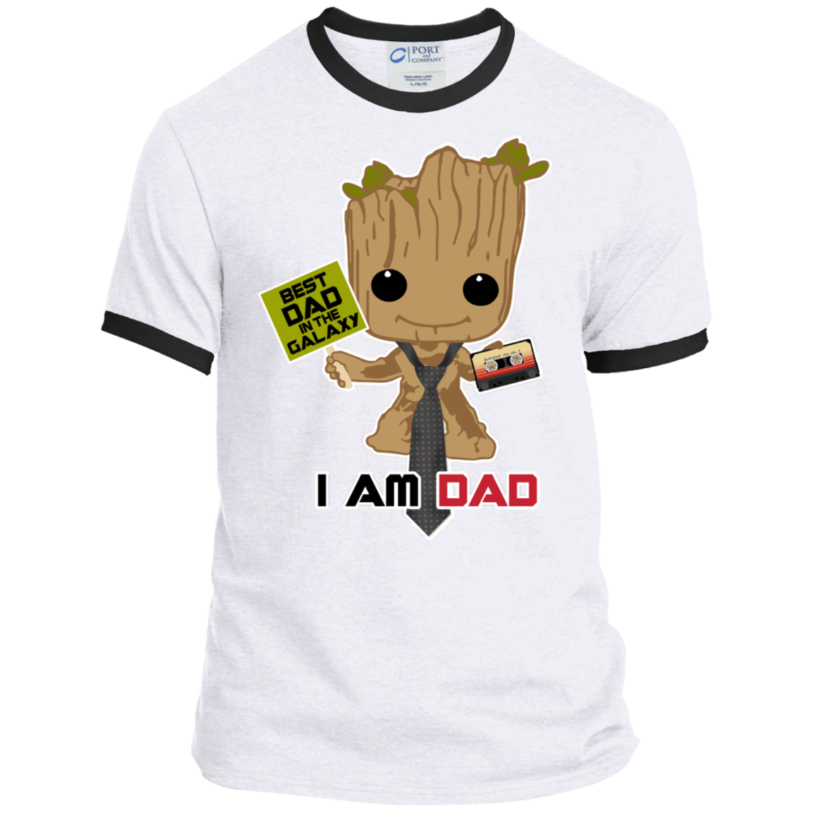 I Am Dad - Ringer Tee