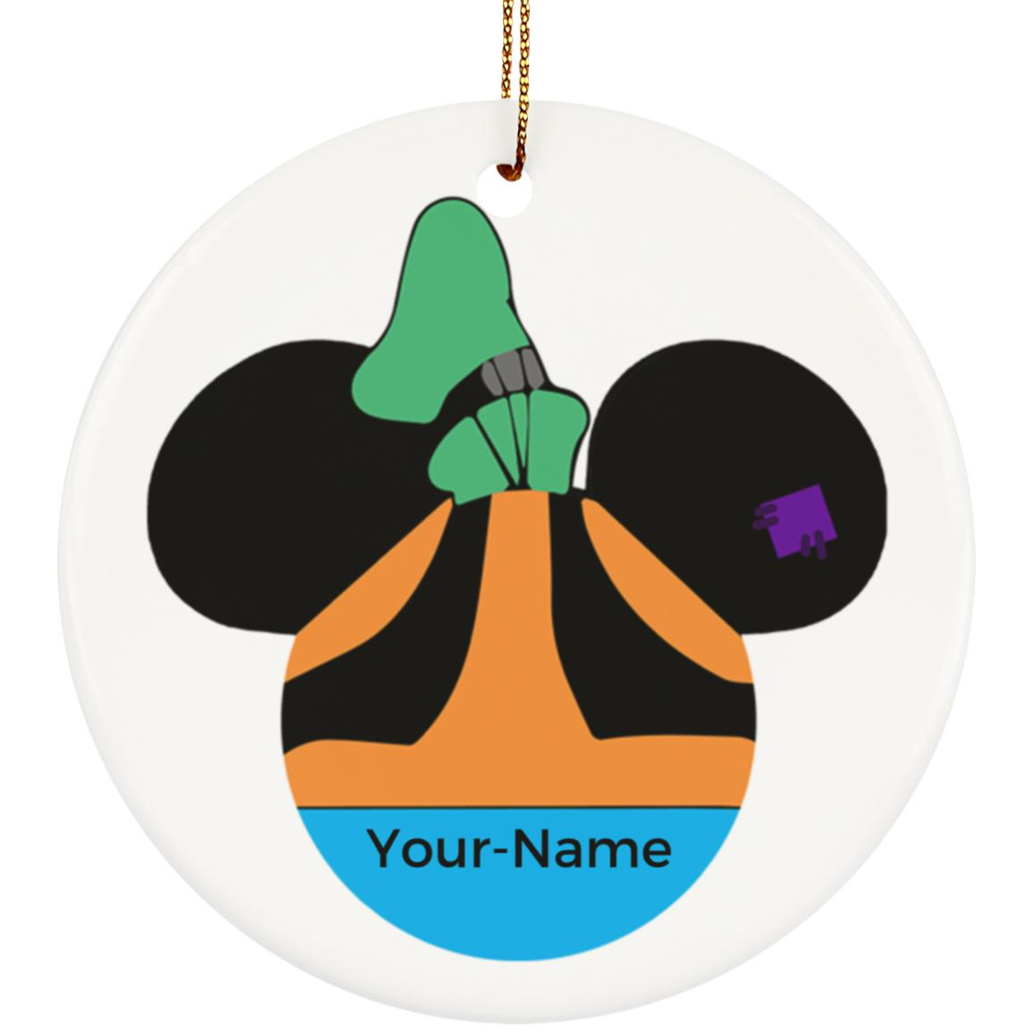 Goofy Ceramic Circle Ornament - Personalized