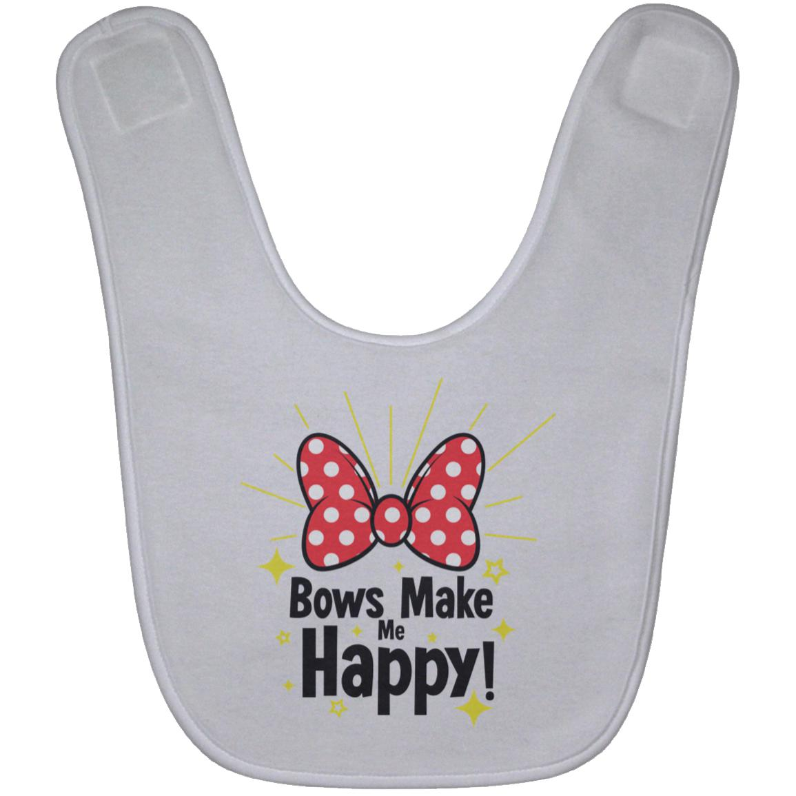 Bows Make Me Happy - Baby Bib