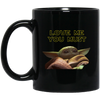 Baby Yoda, Love Me You Must, 11 oz. Black Mug, v3