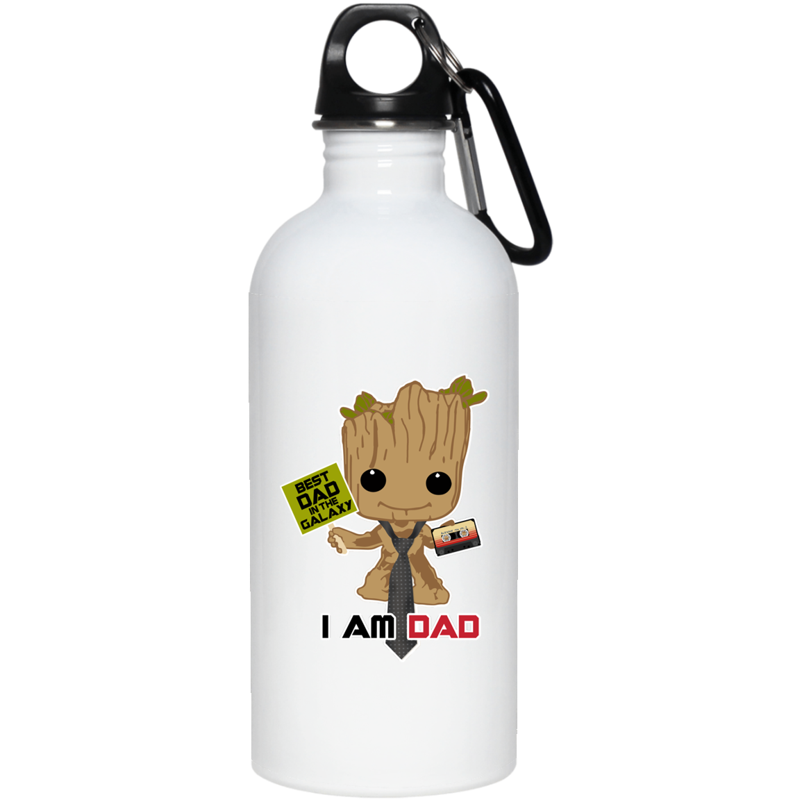 I Am Dad - 20 oz. Stainless Steel Water Bottle