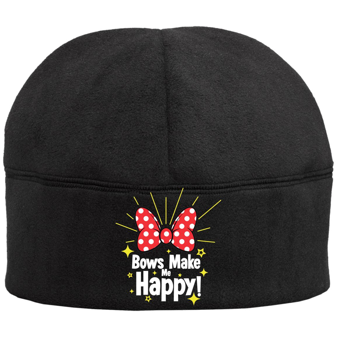 Bows Make Me Happy - Port Authority Fleece Beanie