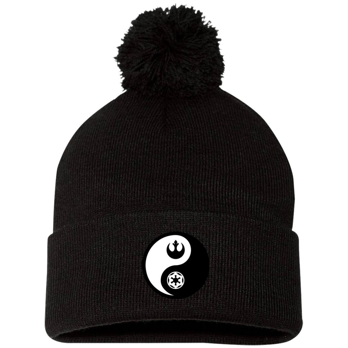 Rebel & Empire Yin Yang - Embroidered Pom Pom Hat