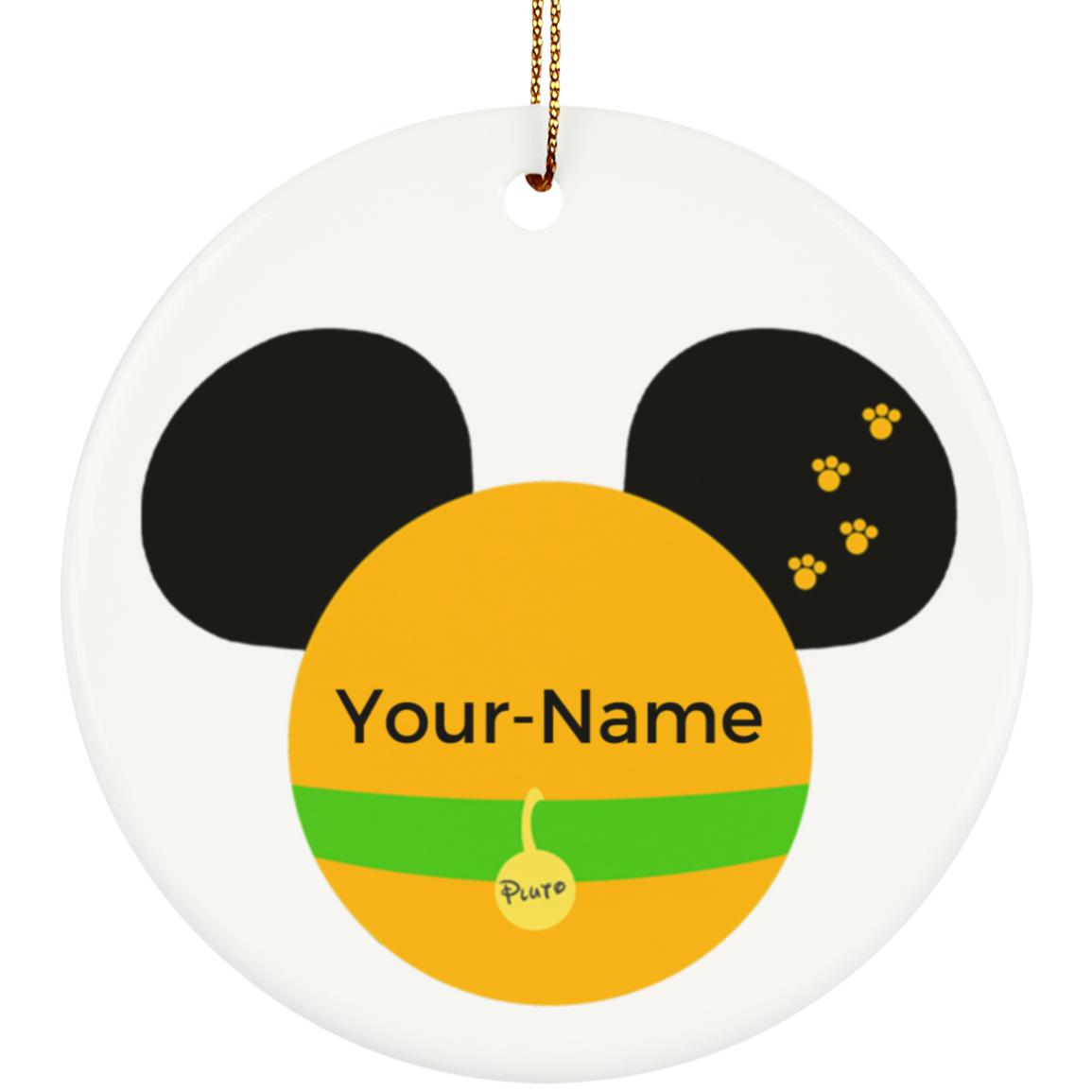 Pluto Ceramic Circle Ornament - Personalized