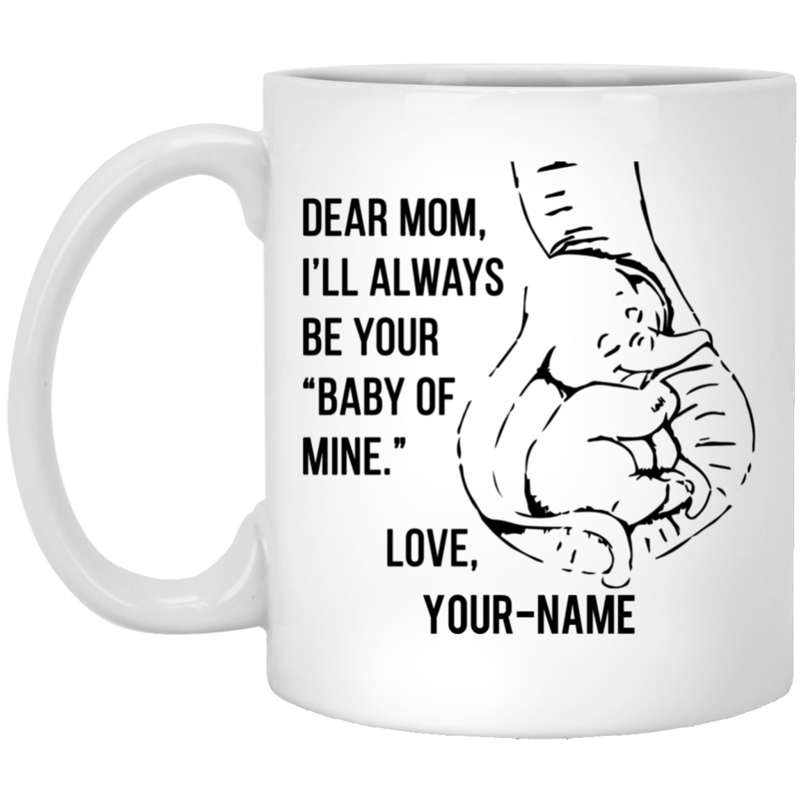 Personalized Dumbo Mug - Always Be Your Baby of Mine