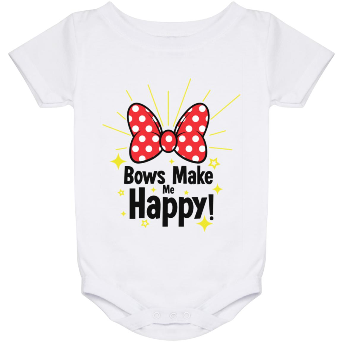 Bows Make Me Happy - Baby Onesie 24 Month