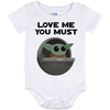 Baby Yoda, Love Me You Must, Baby Onesie, 12 Month