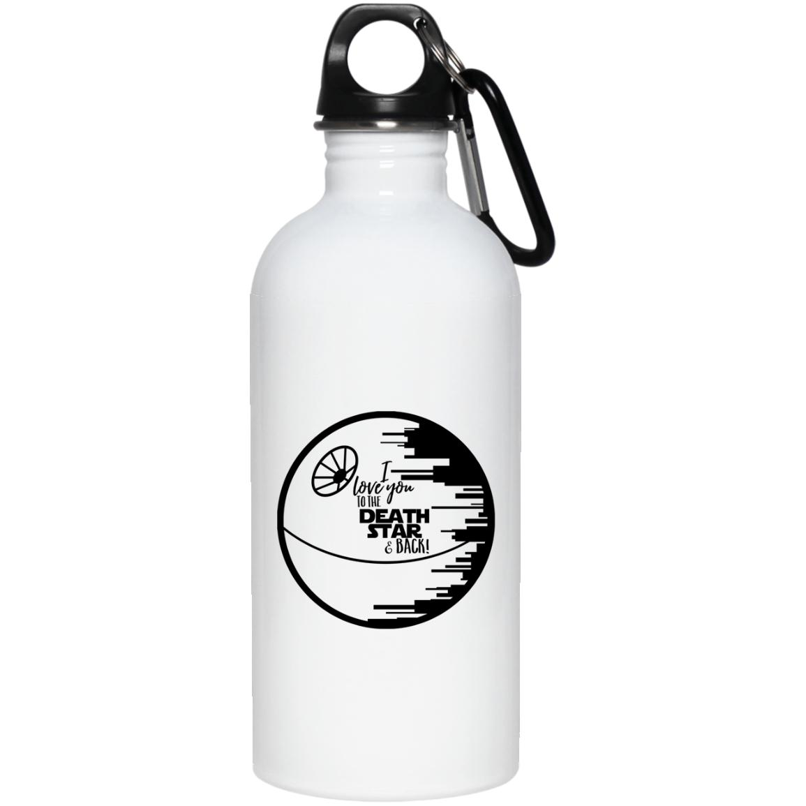 I Love You To the Death Star & Back 20 oz. Stainless Steel Water Bottle