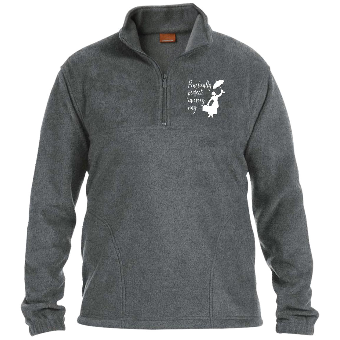 Mary Poppins Practically Perfect - 1/4 Zip Fleece Pullover