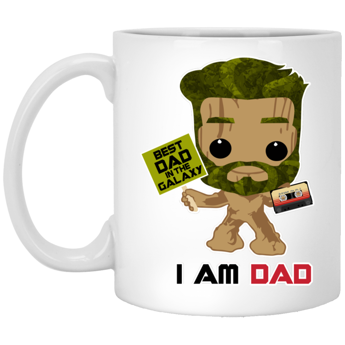 I Am Dad - Green Beard - White Mug