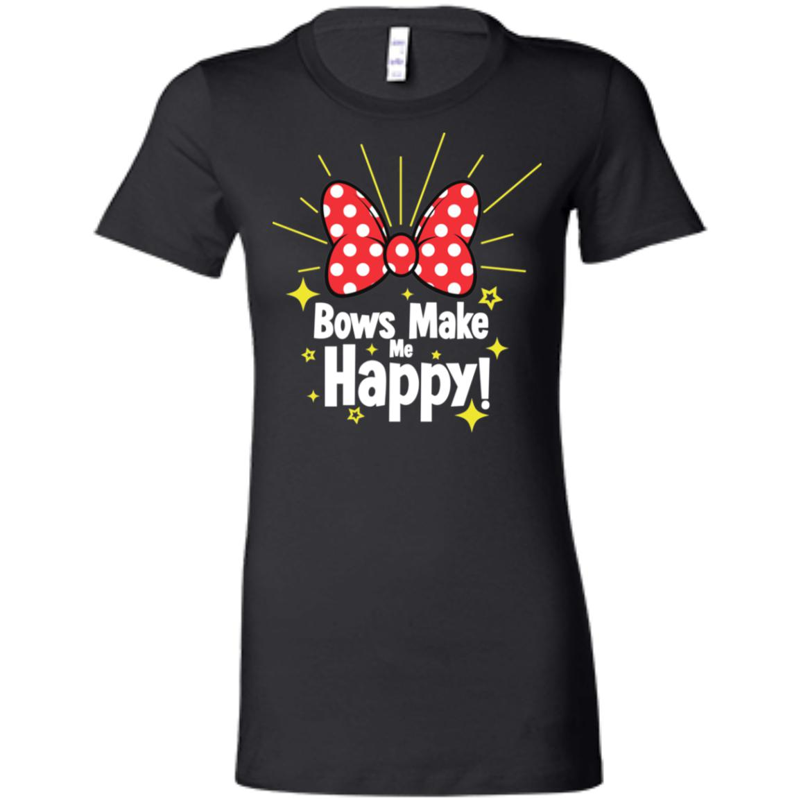 Bows Make Me Happy - Bella + Canvas Ladies' Favorite T-Shirt