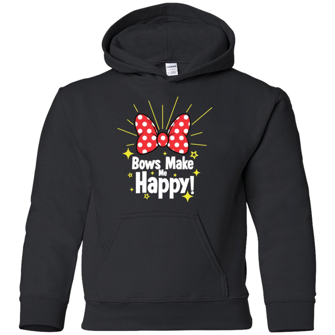 Bows Make Me Happy - Gildan Youth Pullover Hoodie