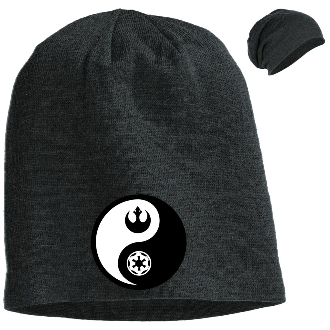Rebel & Empire Yin Yang - Embroidered Slouch Beanie