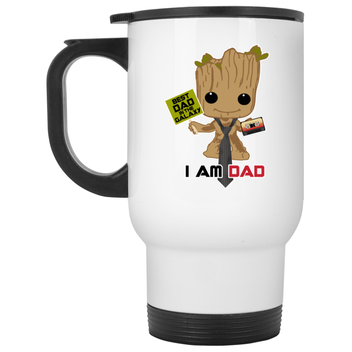 I Am Dad - White Travel Mug