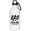 Dad I Love You Three Thousand - 20 oz Stainless Steel Water Bottle
