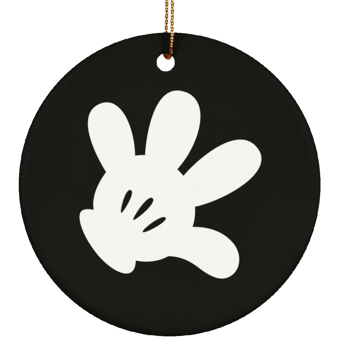 Cartoon Glove - Ceramic Circle Ornament