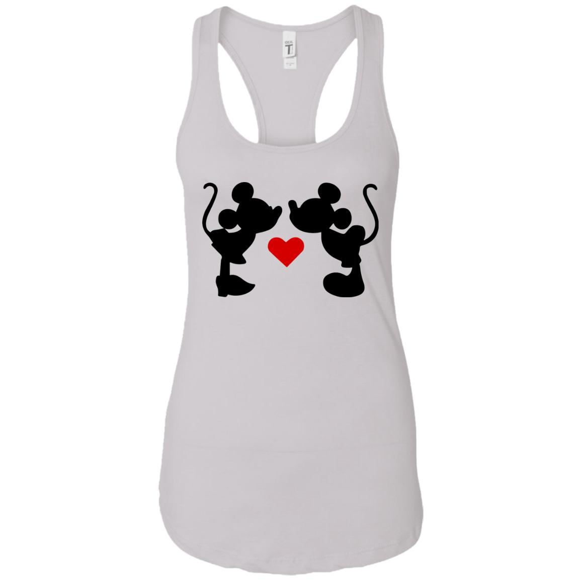 Mickey & Minnie Kissing Ladies Ideal Racerback Tank
