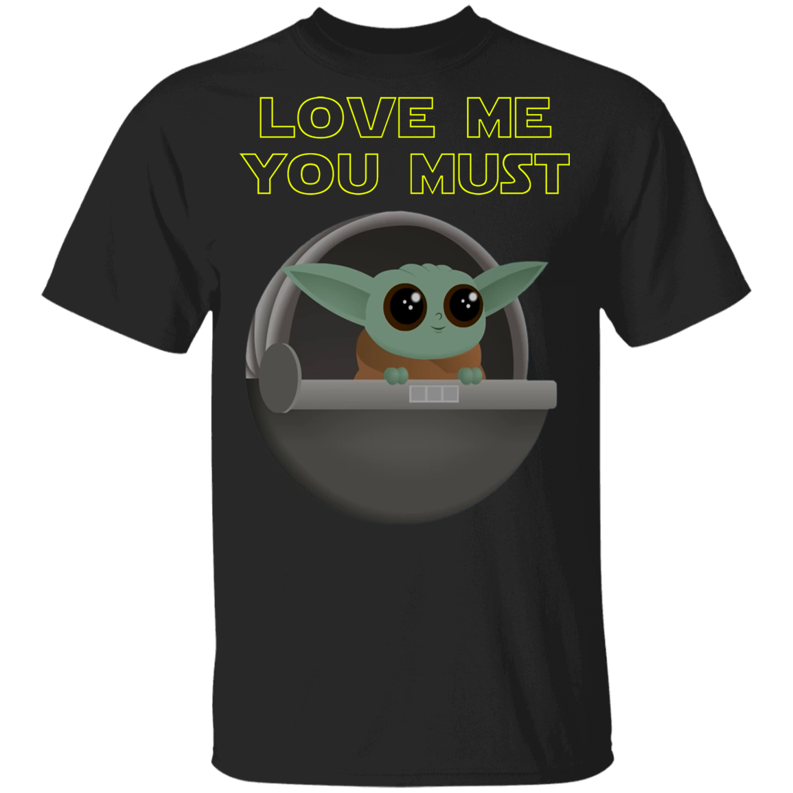 Baby Yoda, Love Me You Must, Youth Cotton Tee