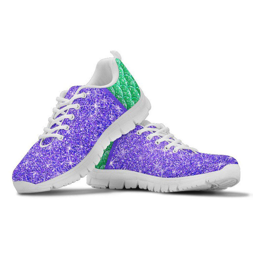 Little Mermaid Tennis Shoes - Princess Ariel Adult Women's
