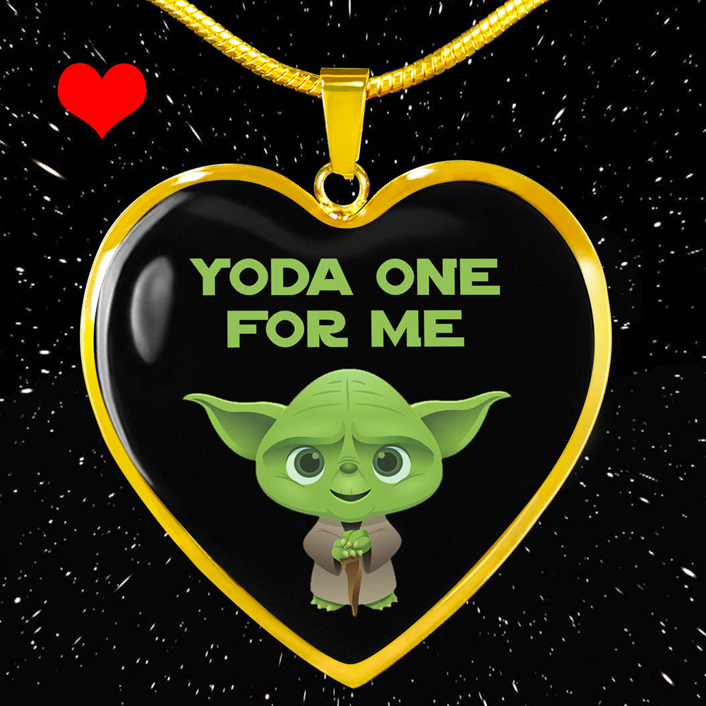 Yoda One for Me - Heart Pendant Necklace