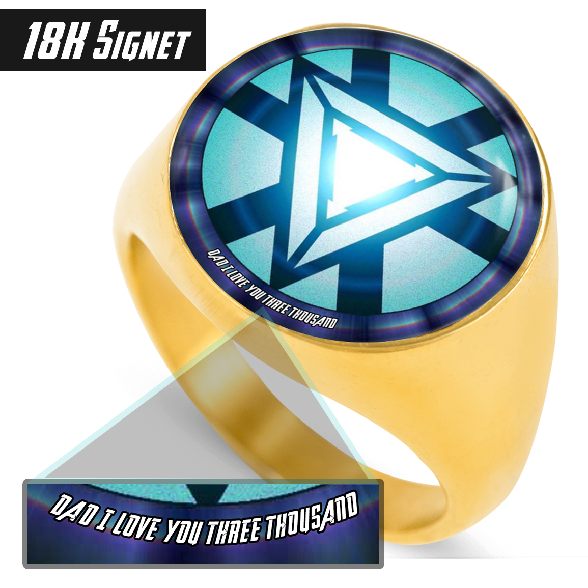 Dad I Love You Three Thousand - Signet Ring