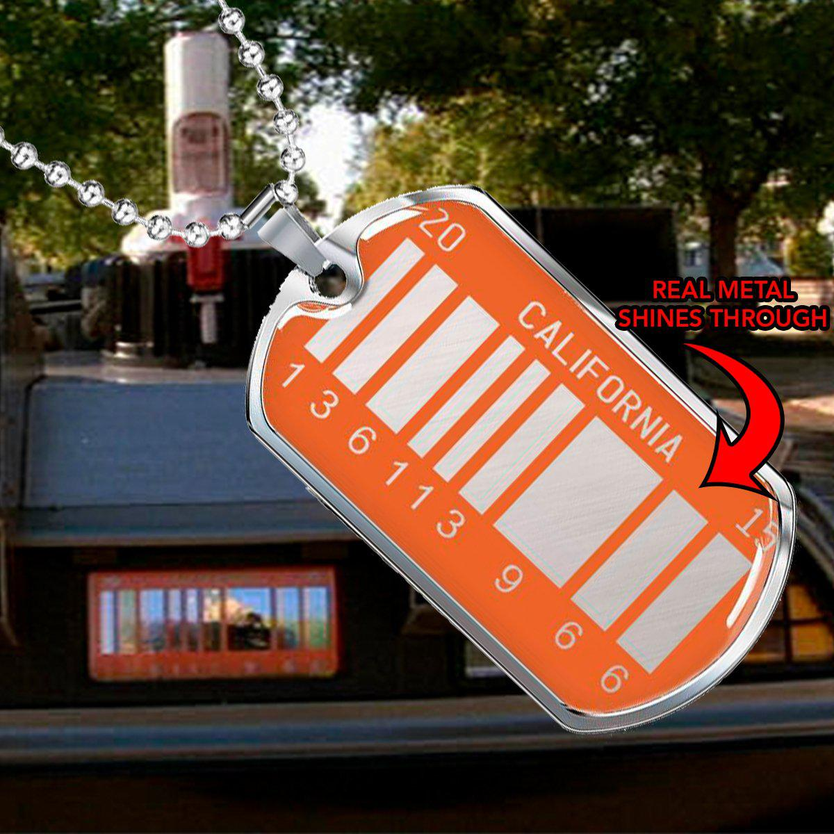 BTTF 2 Barcode License Plate - High Quality Dog Tag