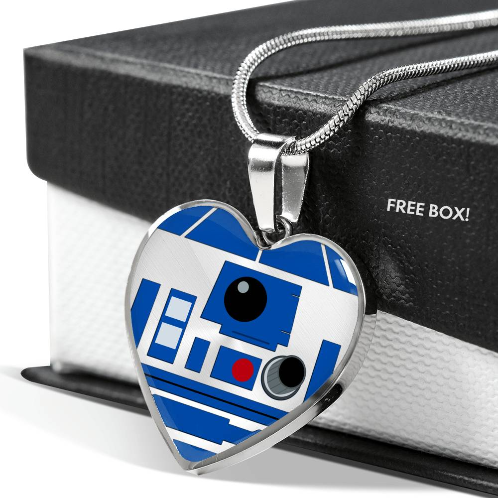 R2-D2 Luxury Heart Pendant Necklace