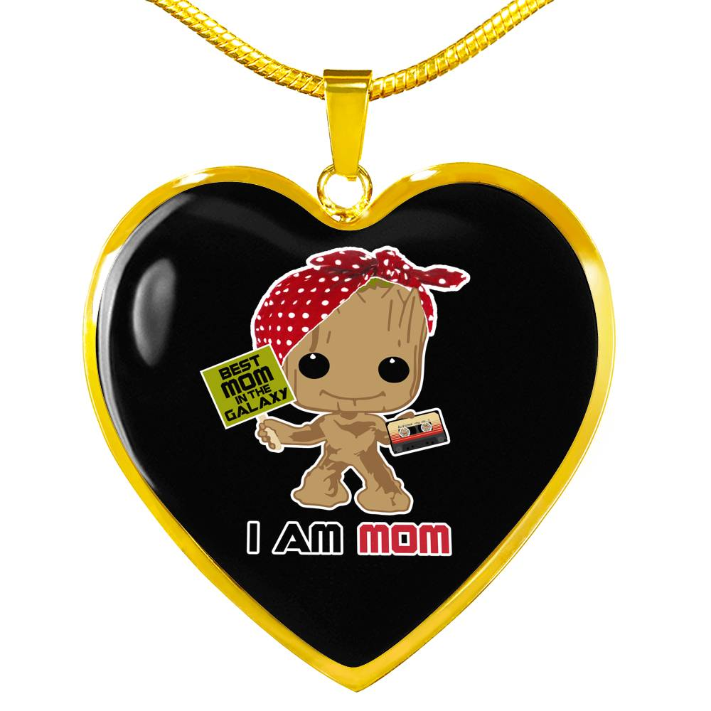 I Am Mom - Heart Pendant Necklace