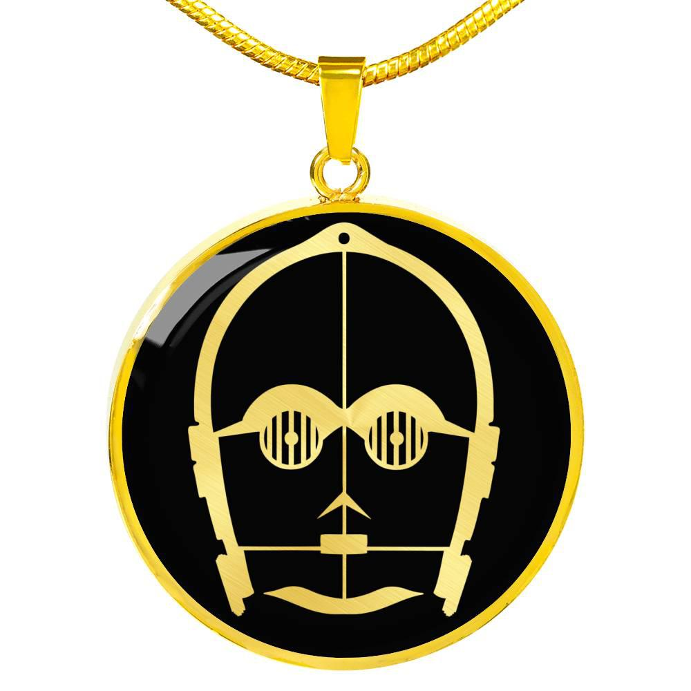 C-3PO - Circle Pendant Necklace