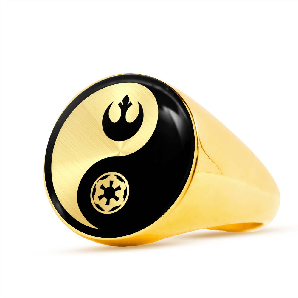 Rebel & Empire Yin Yang - Signet Ring