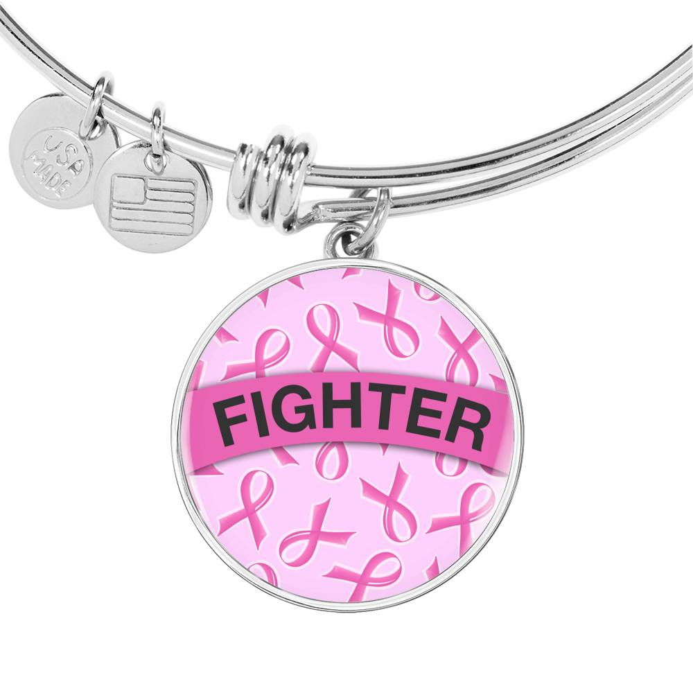 Breast Cancer Awareness Bangle - Fighter