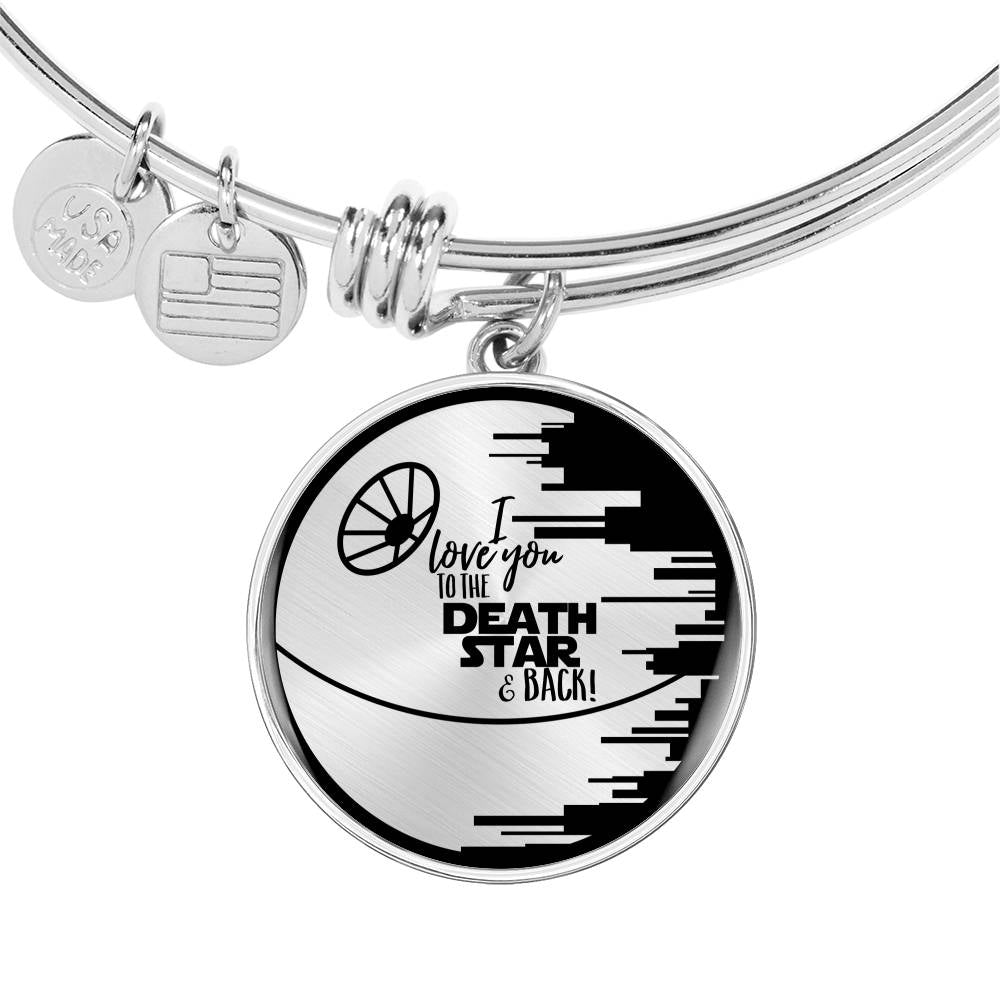I Love You to the Death Star & Back - Circle Pendant Bangle