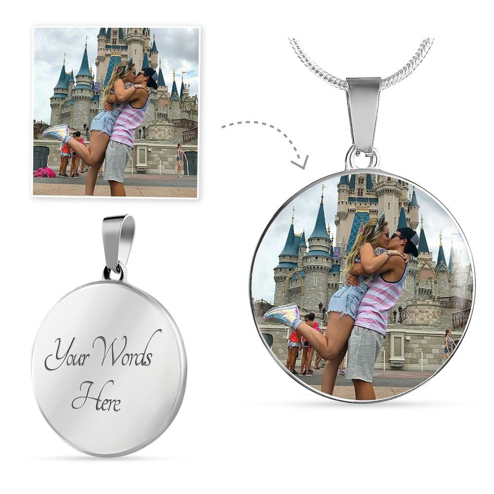 Personalized Circle Pendant Necklace - Upload Your Photo
