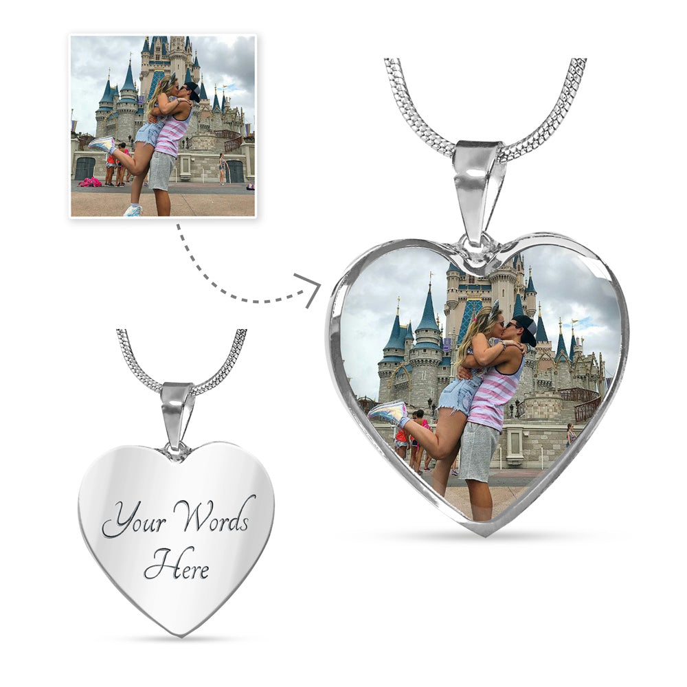 Personalized Heart Pendant Necklace - Upload Your Photo