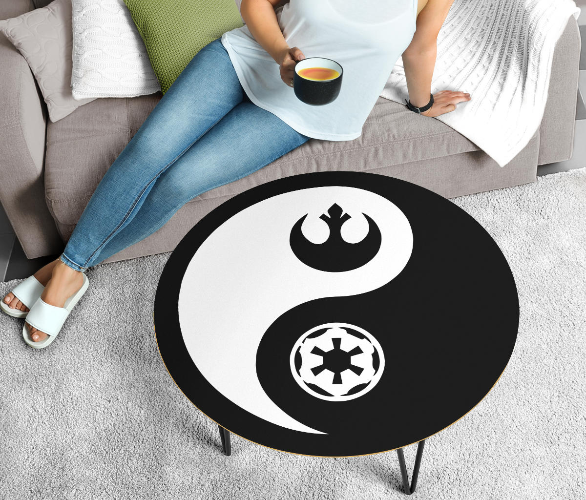 Star Wars Coffee Table - Yin Yang - Modern Wood Round Table