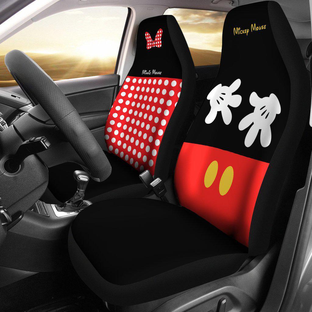Mickey & Minnie Car Seat Cover (Set of 2)