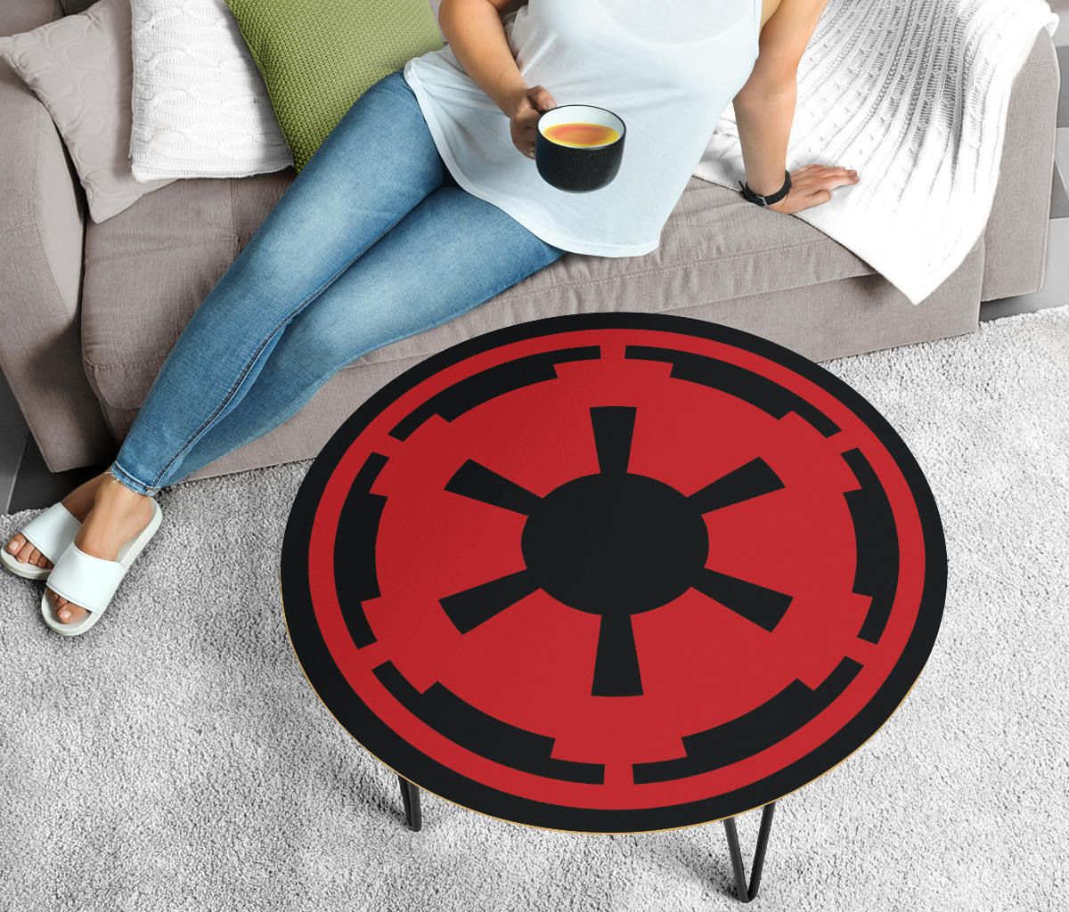 Star Wars Coffee Table - Galactic Empire - Modern Wood Round Table
