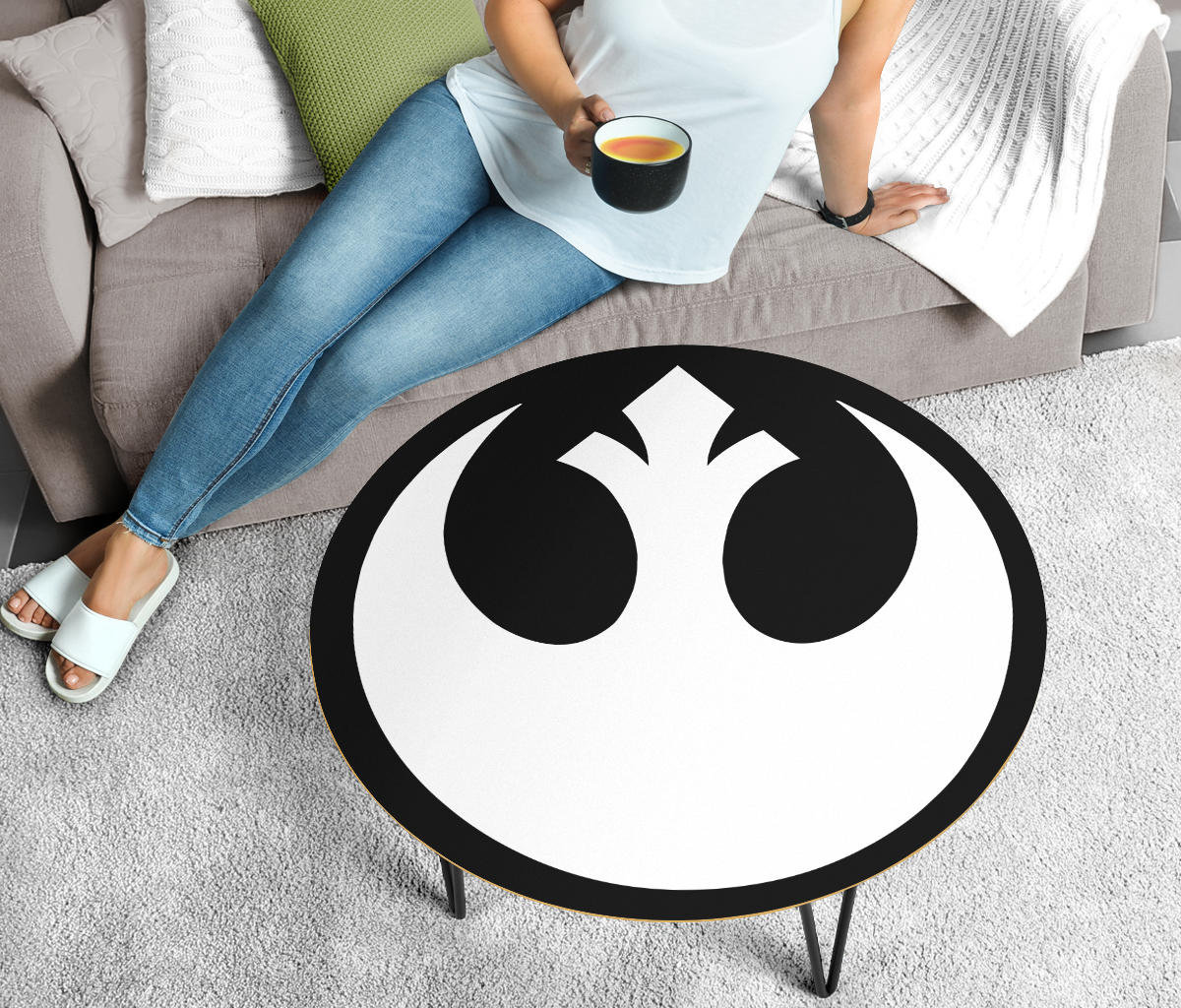 Star Wars Coffee Table - Rebel Alliance - Modern Wood Round Table