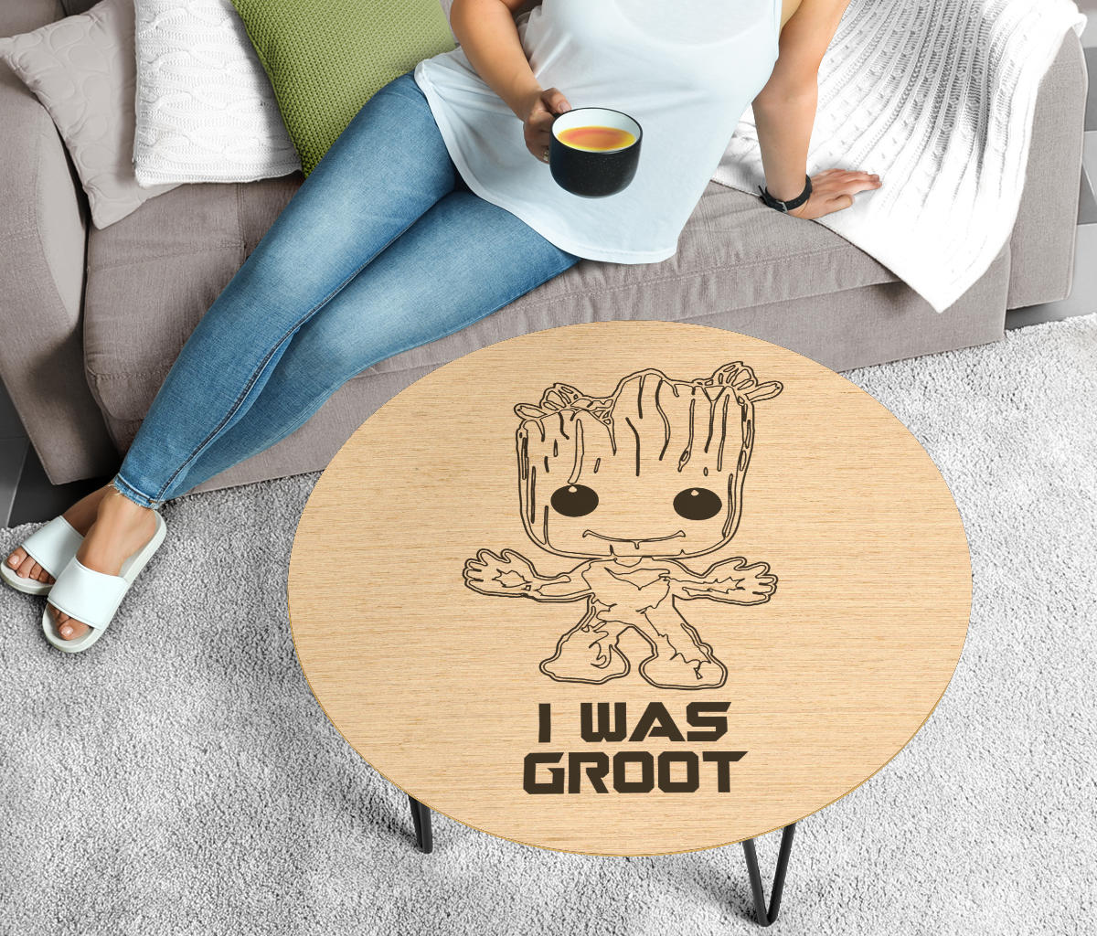 Round Coffee Table - I Was Groot