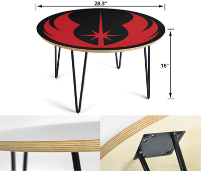 Star Wars Coffee Table - Jedi Order - Modern Wood Round Table