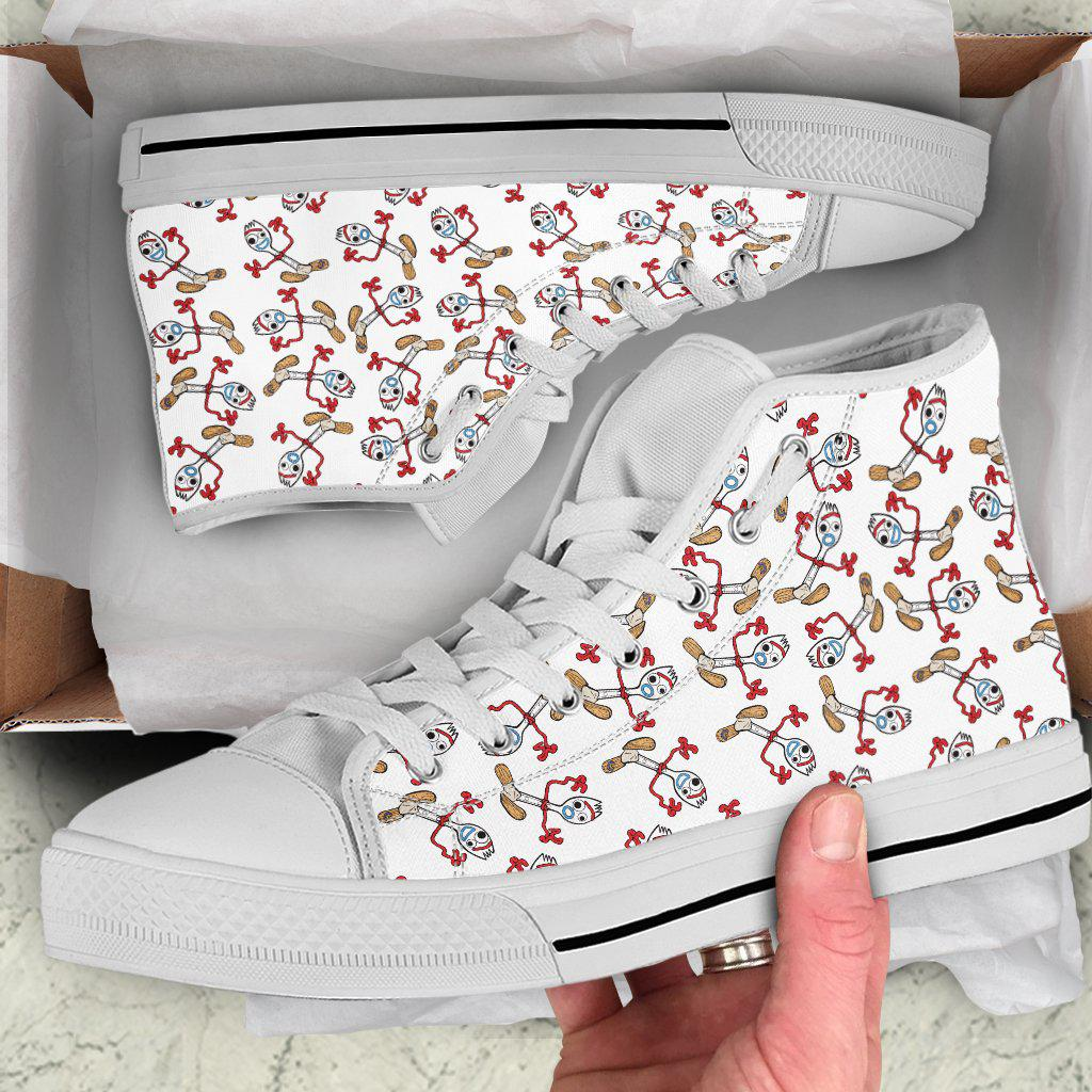 Forky Shoes, Forky Canvas Shoes, Womens, High Top, Low Top
