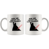 Ask Me About My Dad Chokes - White Mug - TL