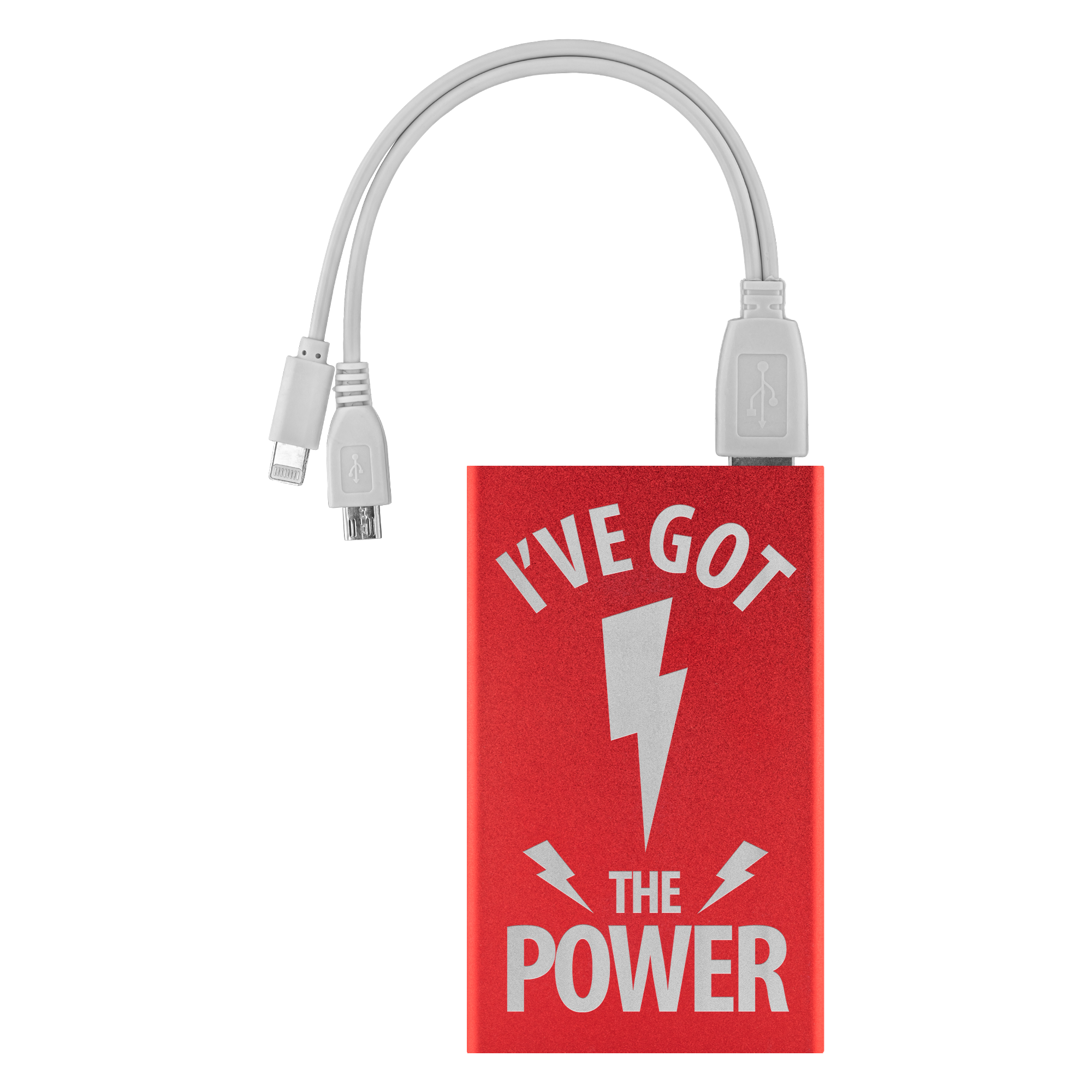 I've Got the Power - Etched Portable Power Bank