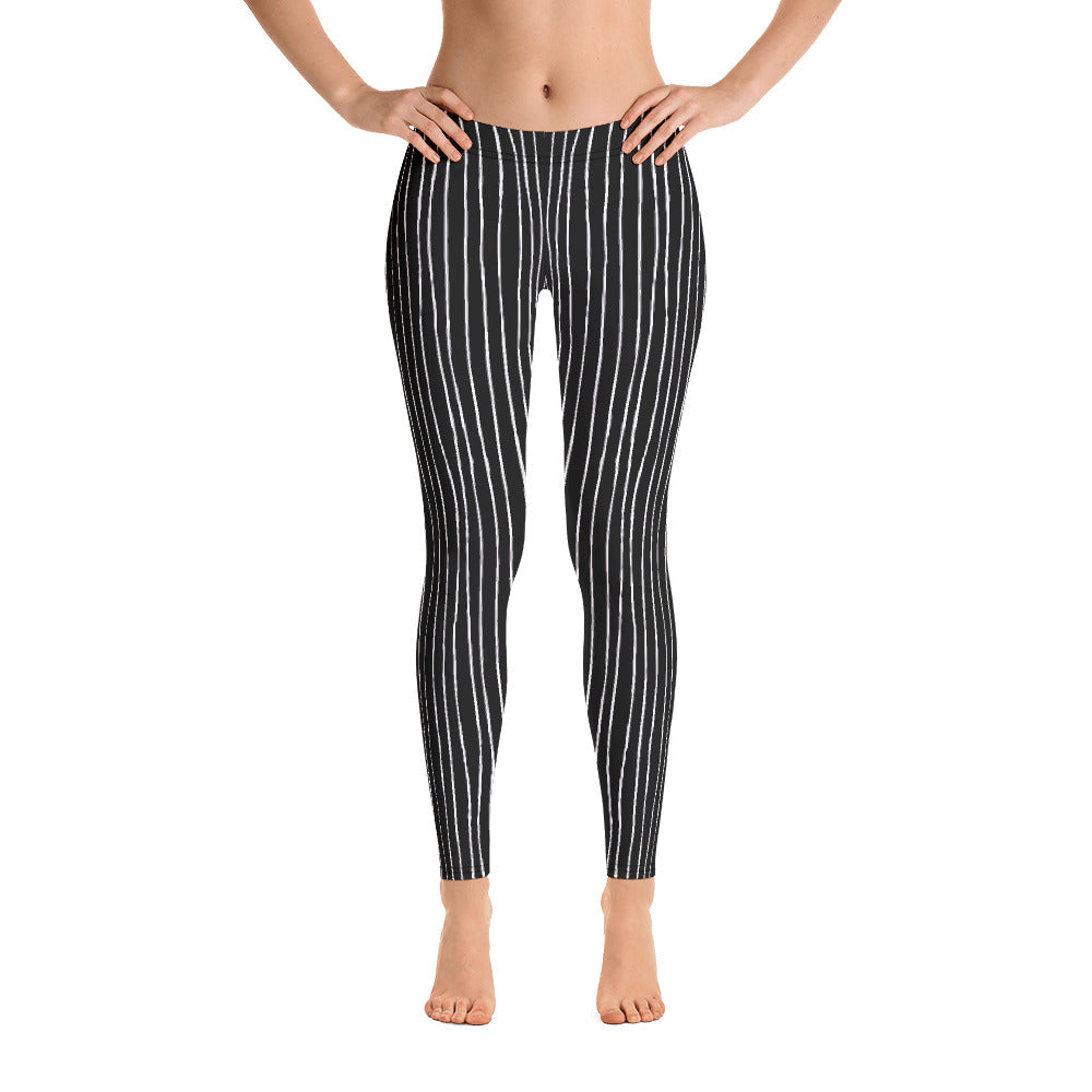 Jack Skellington Striped Leggings, PF