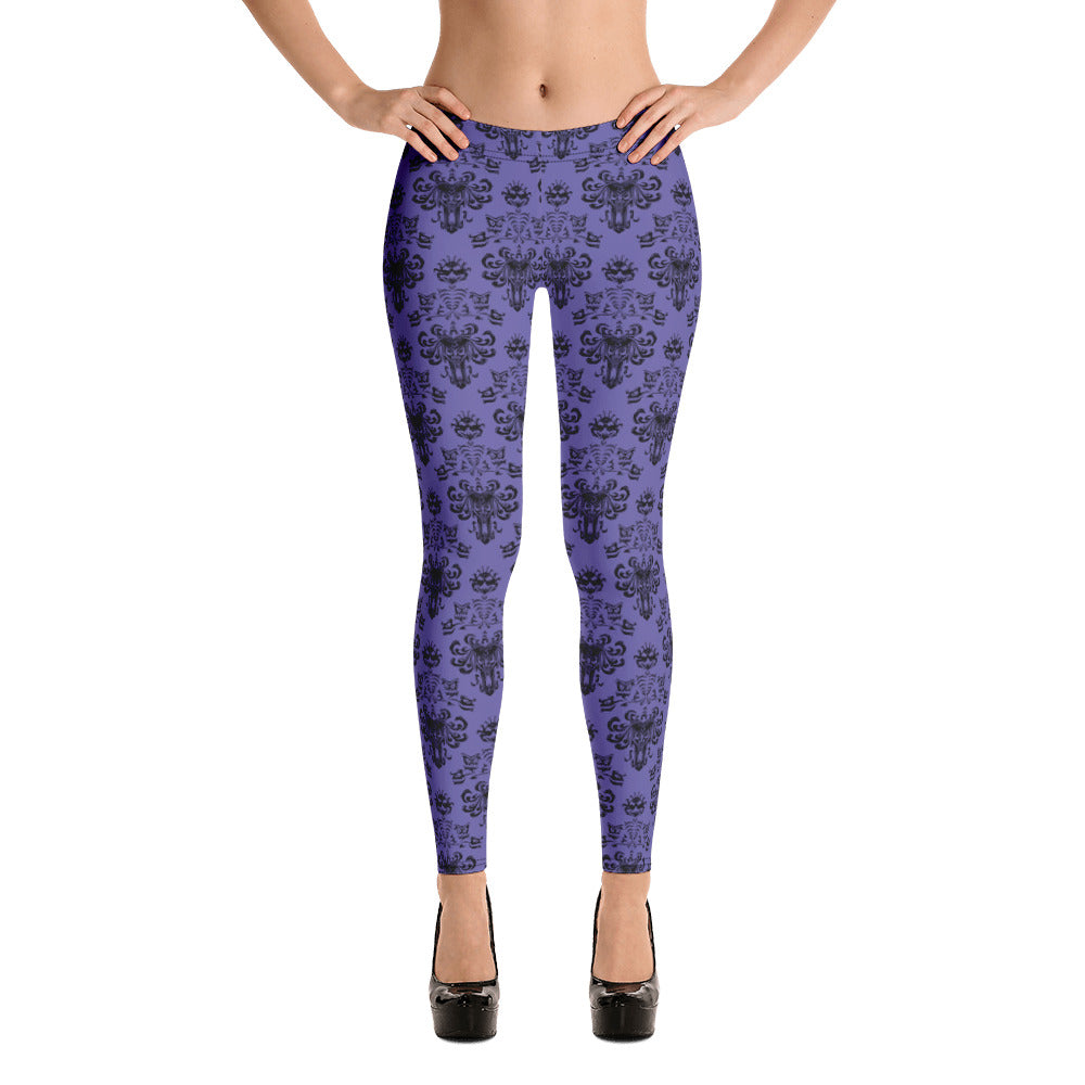 The Haunted Mansion, Women's Leggings, Wallpaper Design